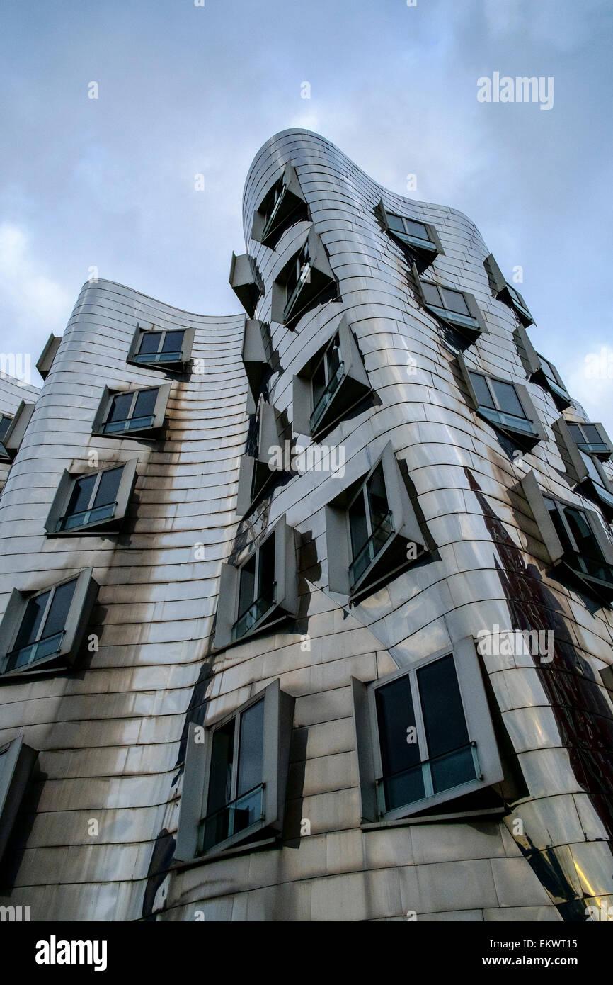 gehry building dusseldorf - Stock Image