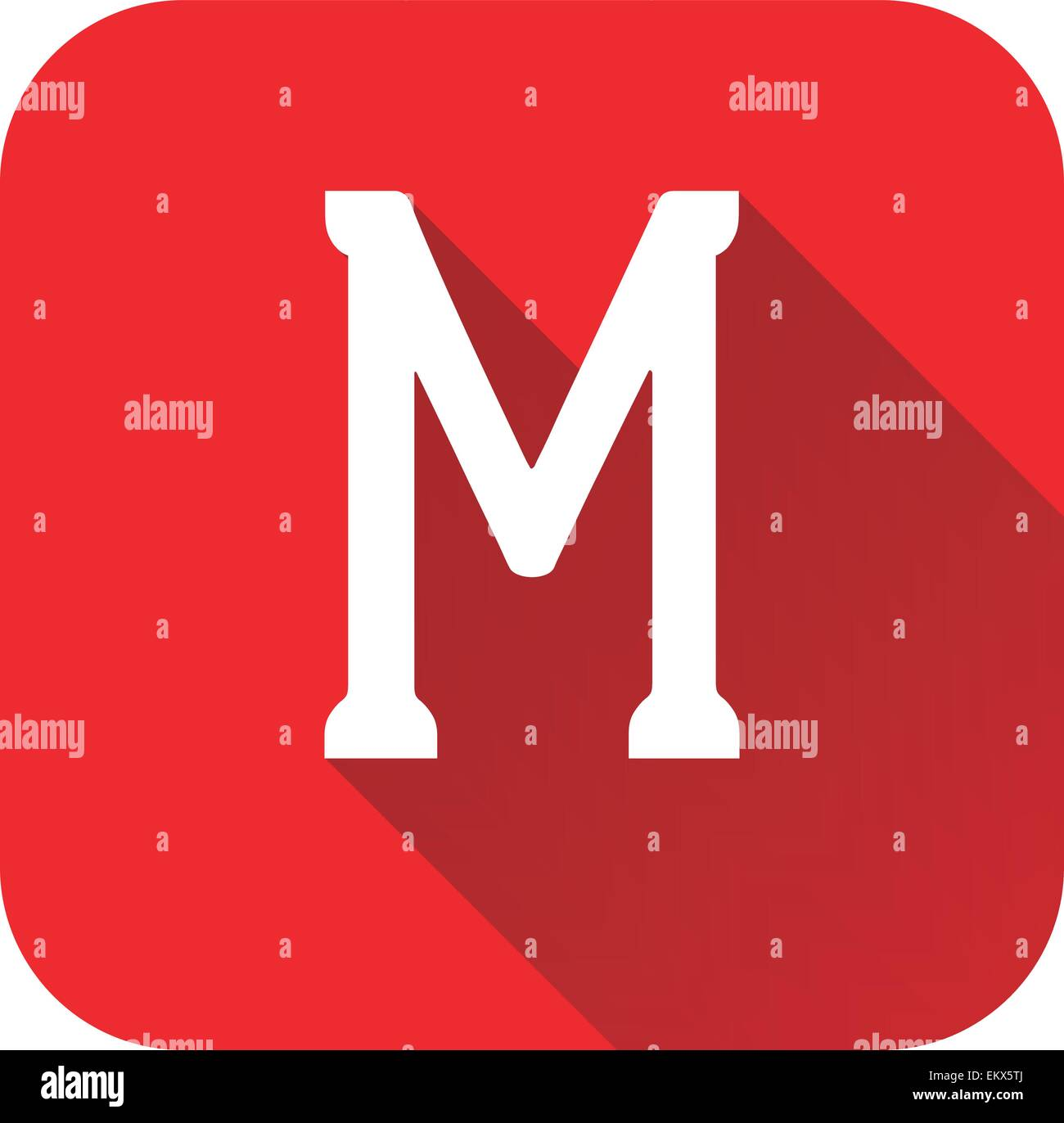Letter m stock photos letter m stock images alamy letter m alphabet long shadow flat icon eps 10 vector stock image thecheapjerseys Gallery