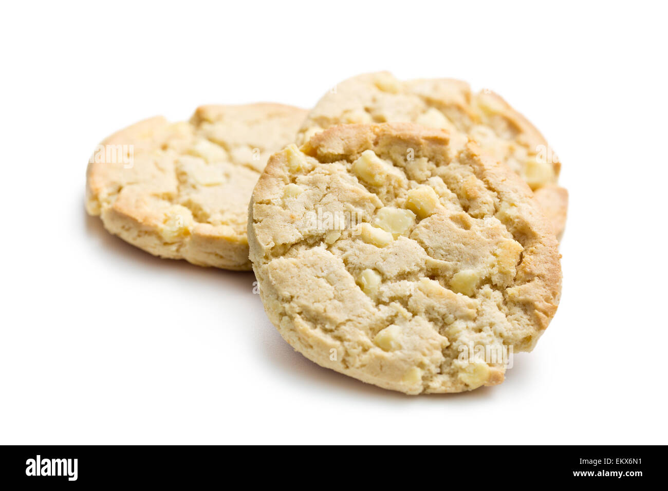 the cookies with white chocolate - Stock Image