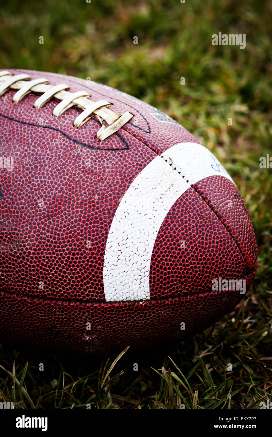 Close up of an american football - Stock Image
