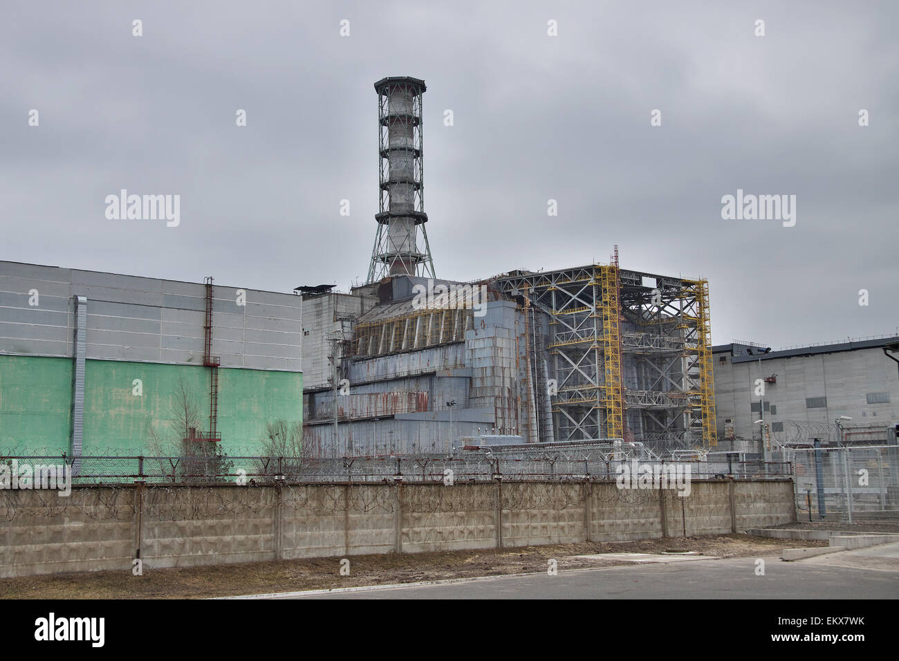 Chernobyl nuclear power plant in pripyat stock photo 81096895 alamy chernobyl nuclear power plant in pripyat freerunsca Images