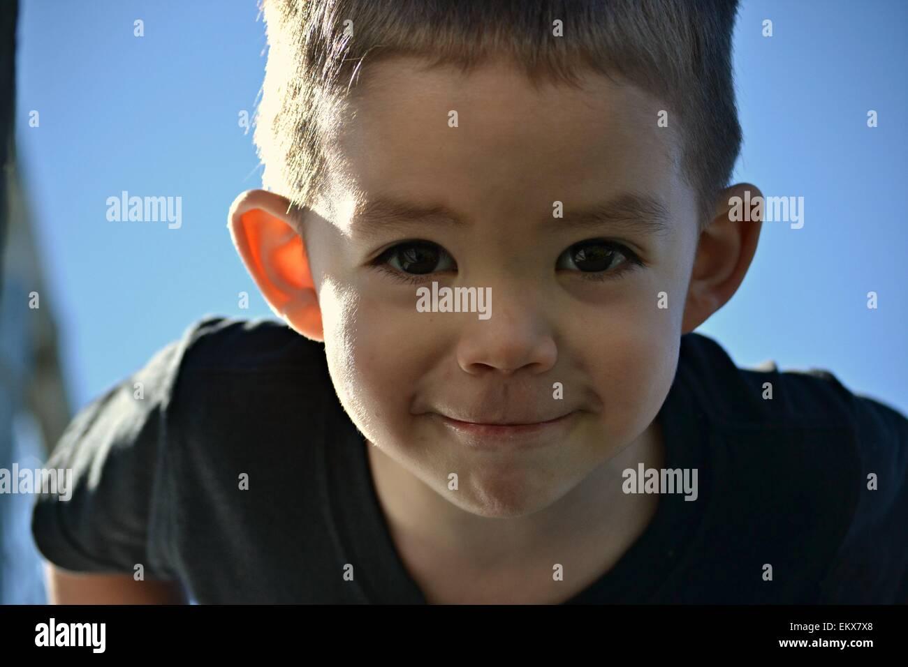 Cute Boy Big Brown Eyes Stock Photos Cute Boy Big Brown Eyes