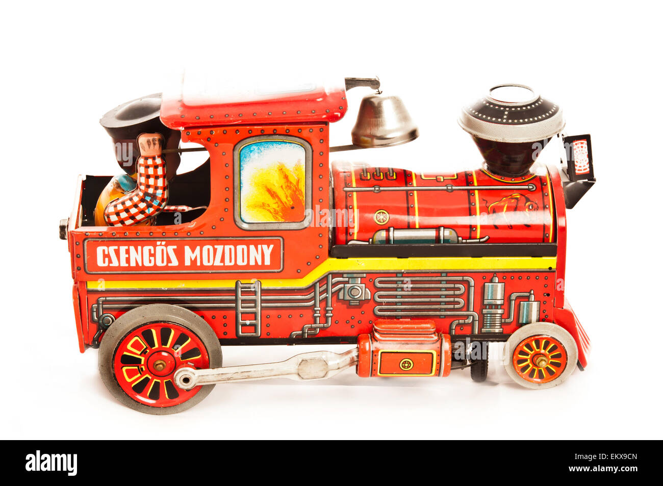 vintage steam locomotive tin toy - Stock Image