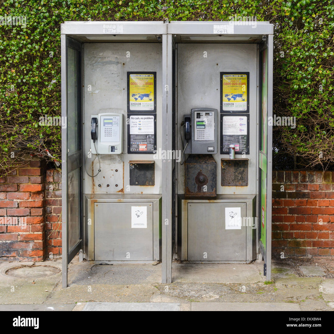 BT telephone kiosk type KX100, in England, UK. - Stock Image