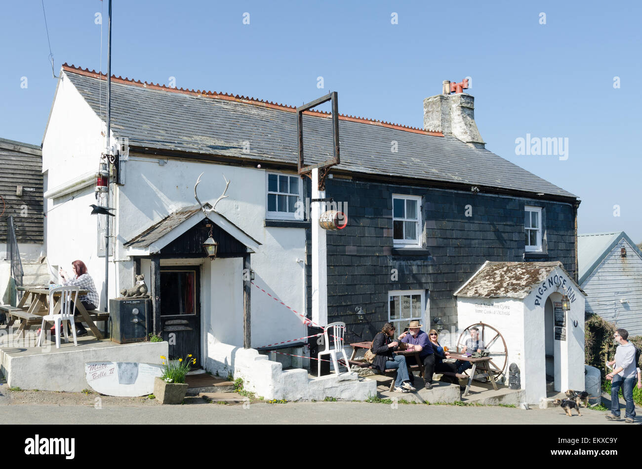 The Pigs Nose Inn public house in the South Hams village of East Prawle in Devon Stock Photo