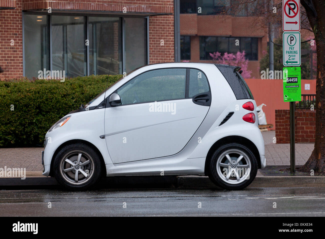 Smart Car side view - Stock Image