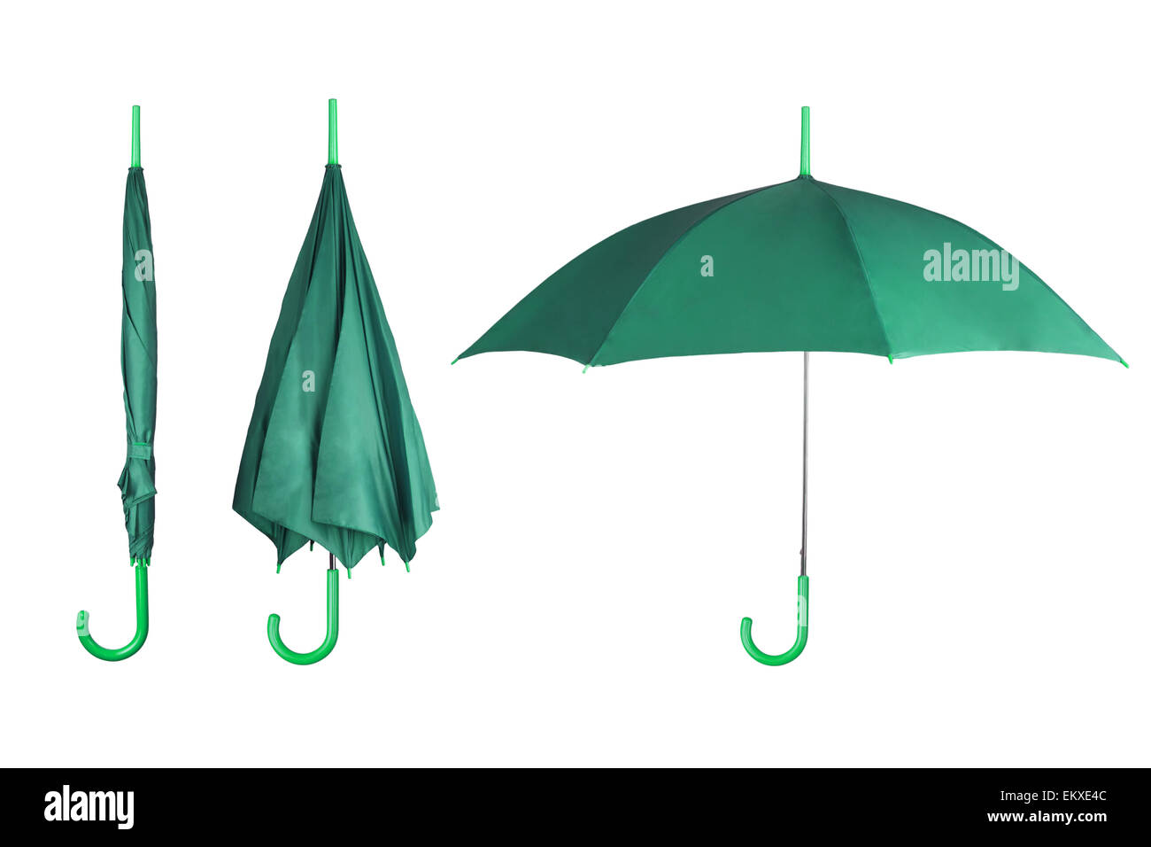 Set of umbrellas - Stock Image