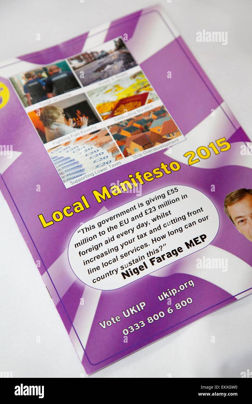 Southport, Merseyside, UK  14th April, 2015. UKIP Local Manifesto as Southport preparea for Neil Hamilton, UKIP - Stock Image