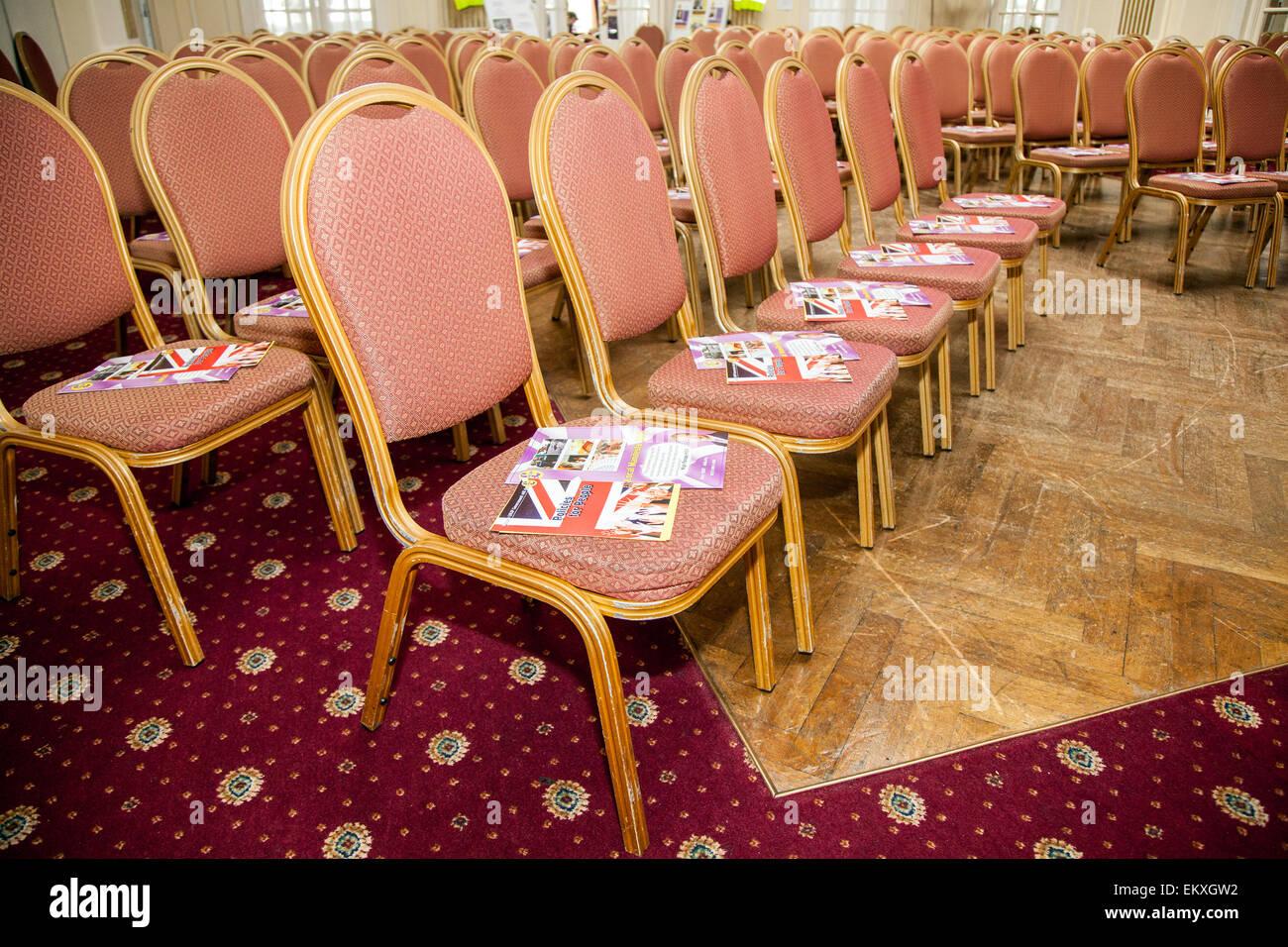 Southport, Merseyside, UK.  14th April, 2015. UKIP Southport prepare for Neil Hamilton, UKIP Deputy Chairman (previously - Stock Image
