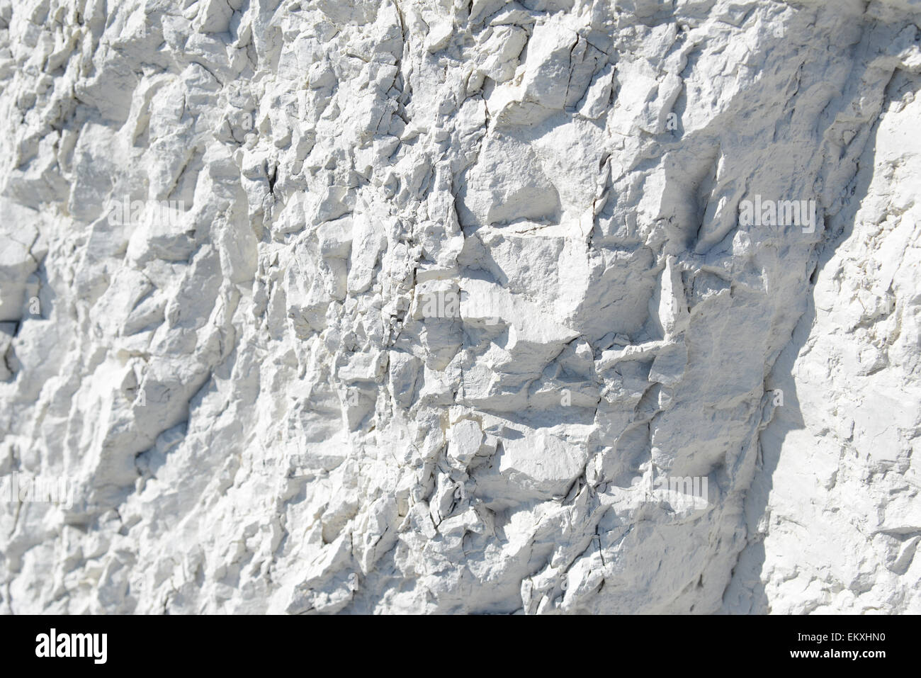 Natural chalk mineral, whole background, close up - Stock Image