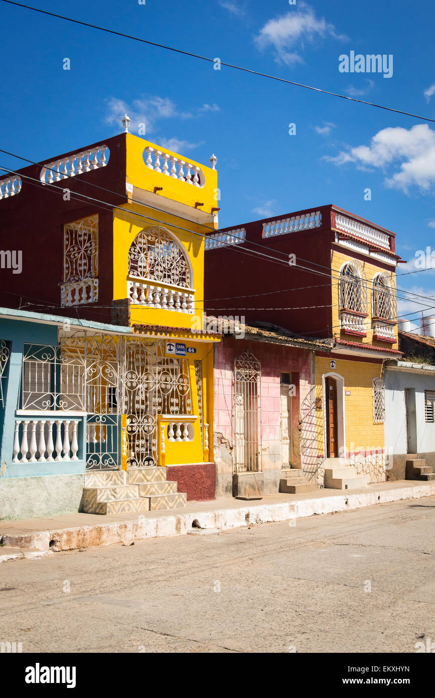 cuba trinidad two 2 story storey houses now private casas hostels rh alamy com house_owner house_owner minecraft