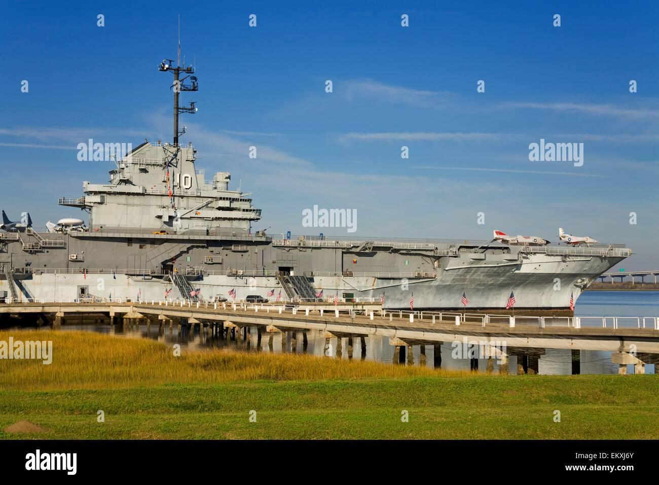 Uss Yorktown Aircraft Carrier Patriots Point Naval Maritime Stock