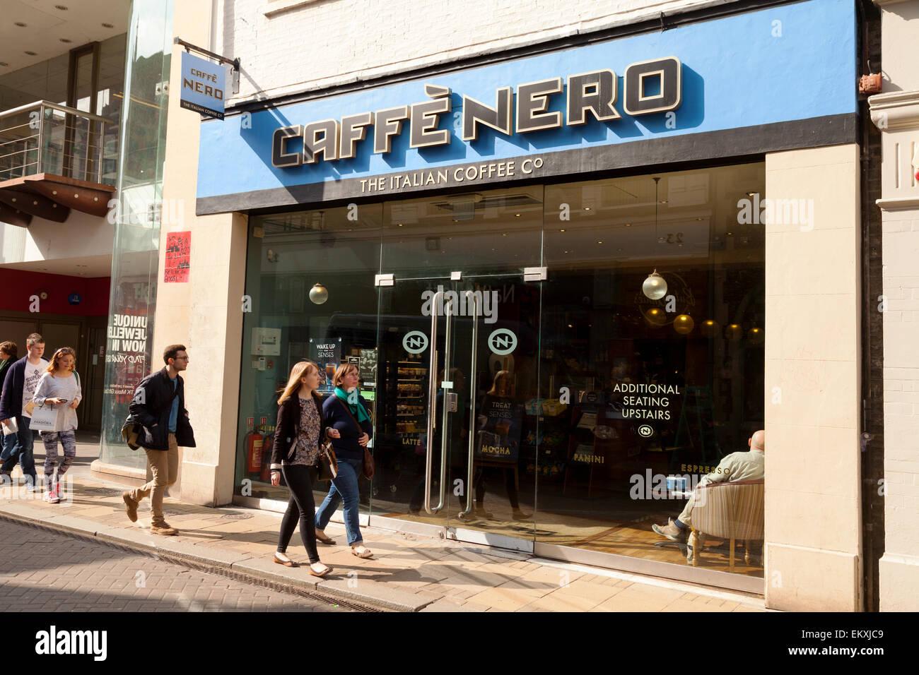 Caffe Nero coffee bar, Church Street, Cambridge branch, England UK - Stock Image