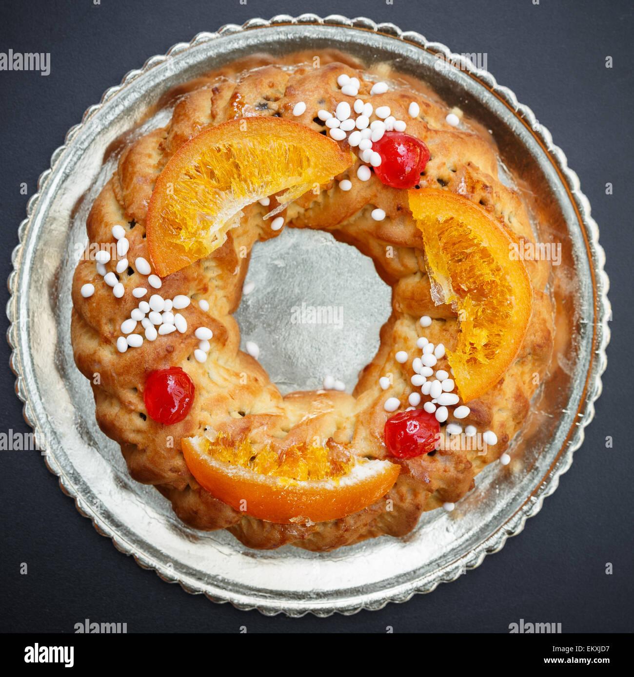 Buccellato, a Sicilian circular cake - Stock Image
