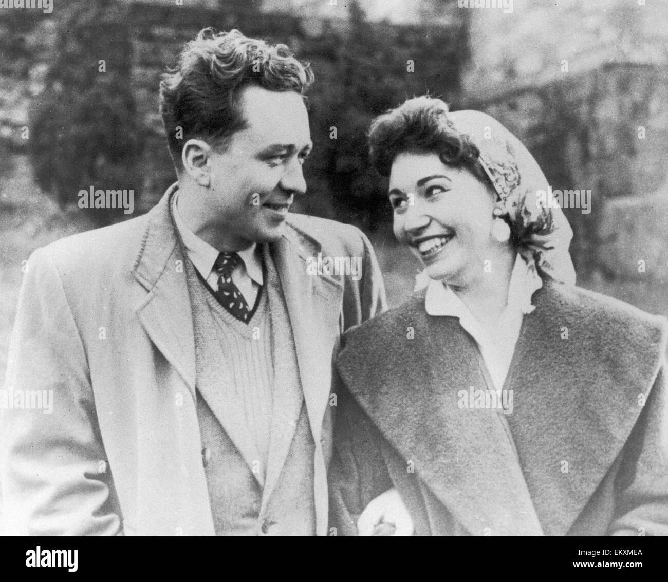 Russian spy Gordon Lonsdale with Carla. Portland Spy Ring. 1961 - Stock Image