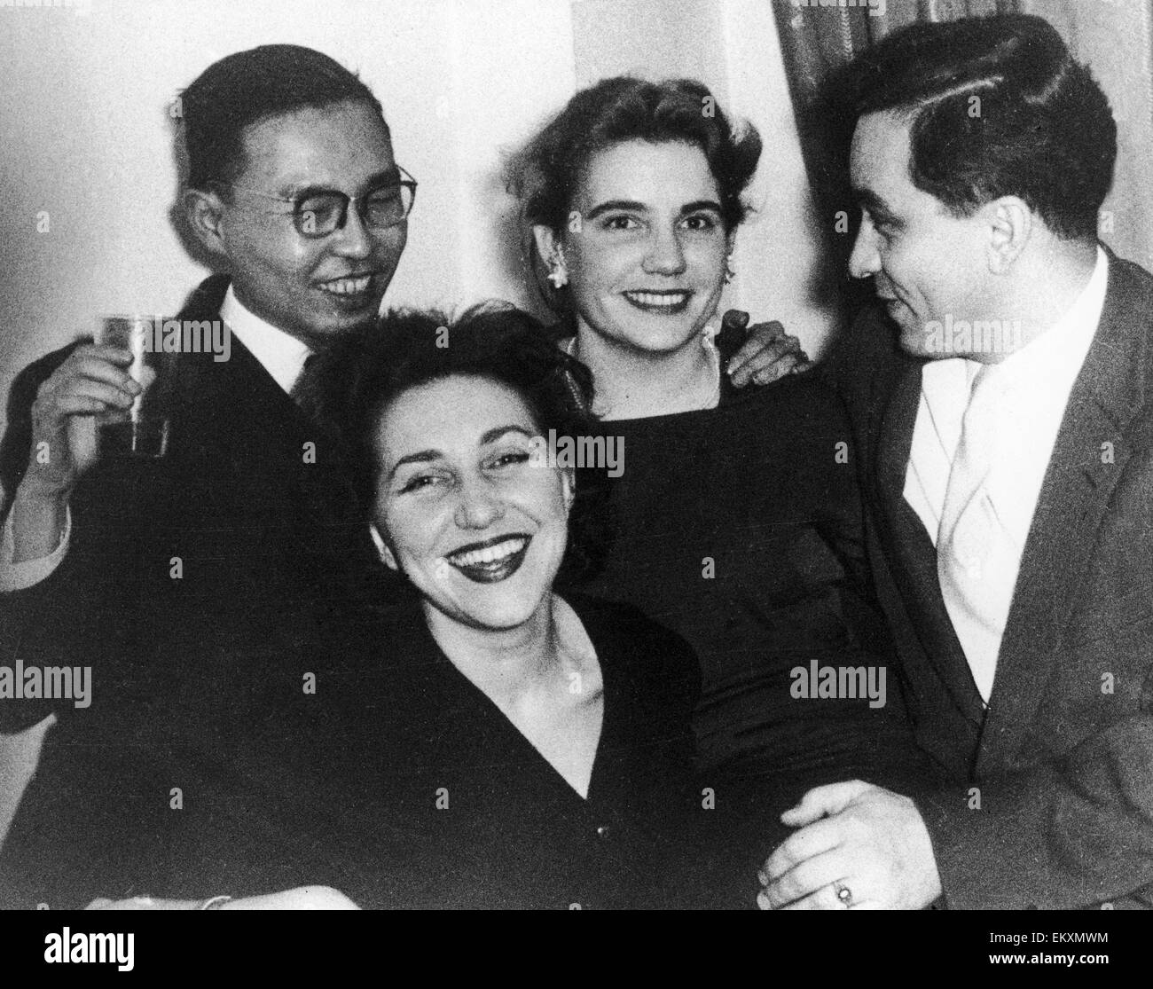 Russian spy Gordon Lonsdale with friends. Portland Spy Ring. 1961 - Stock Image