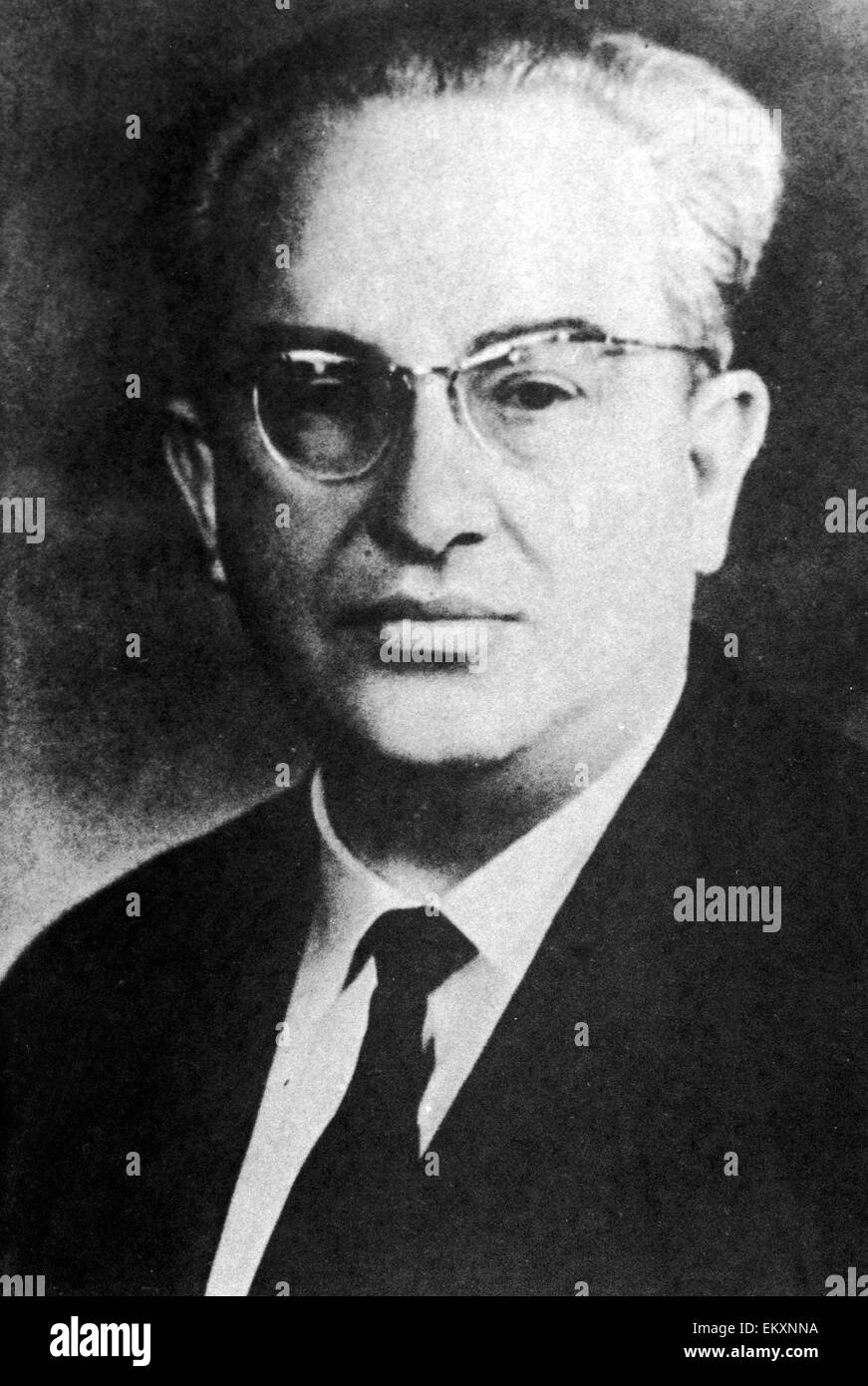 Yuri Vladimirovich Andropov circa 1966 fifth General Secretary of the Central Committee of the Communist Party of - Stock Image
