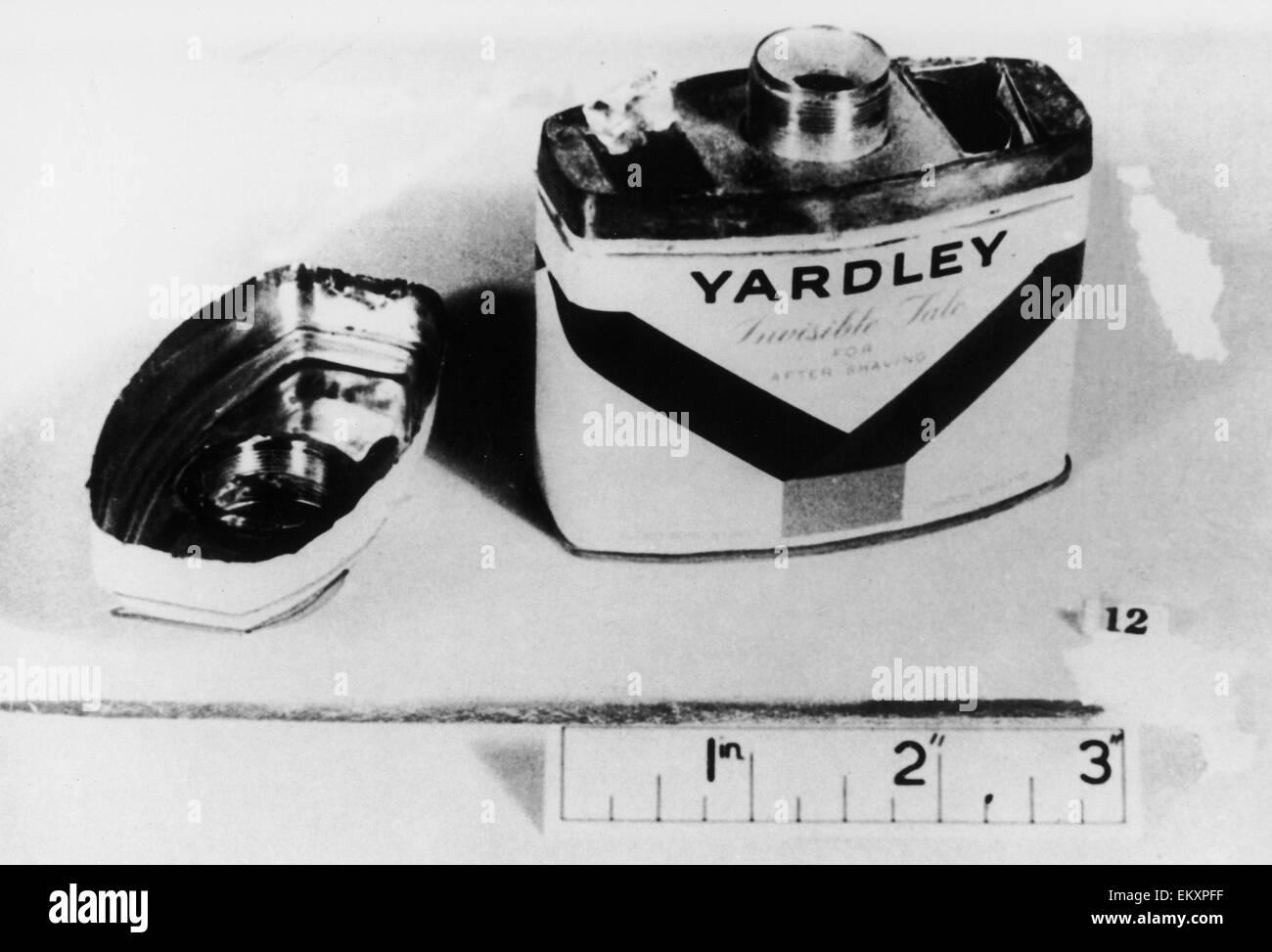 Equipment used by spy Gordon Lonsdale. Portland Spy Ring. c. 1961 - Stock Image