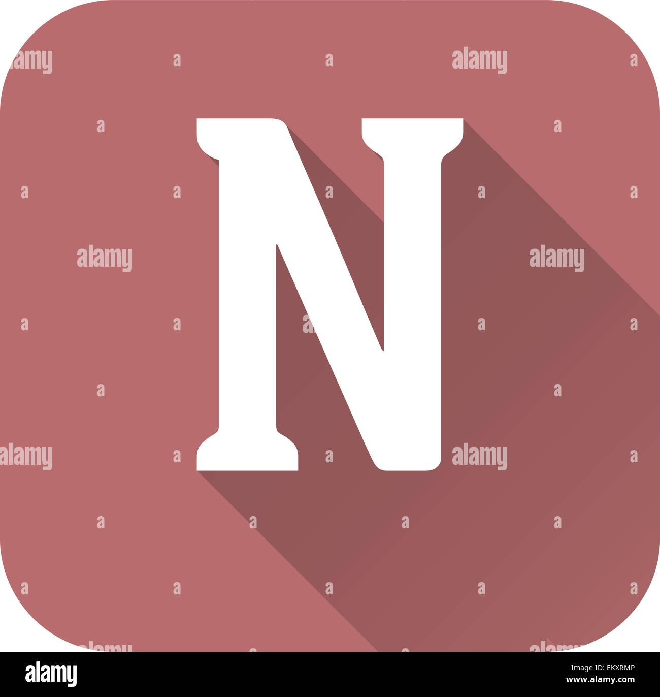 Letter N Stock Vector Images - Alamy