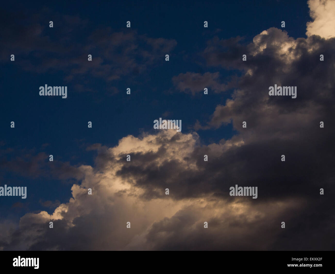Cloud formation after the storm can symbolize many things, dreaming, past events, challenges. - Stock Image