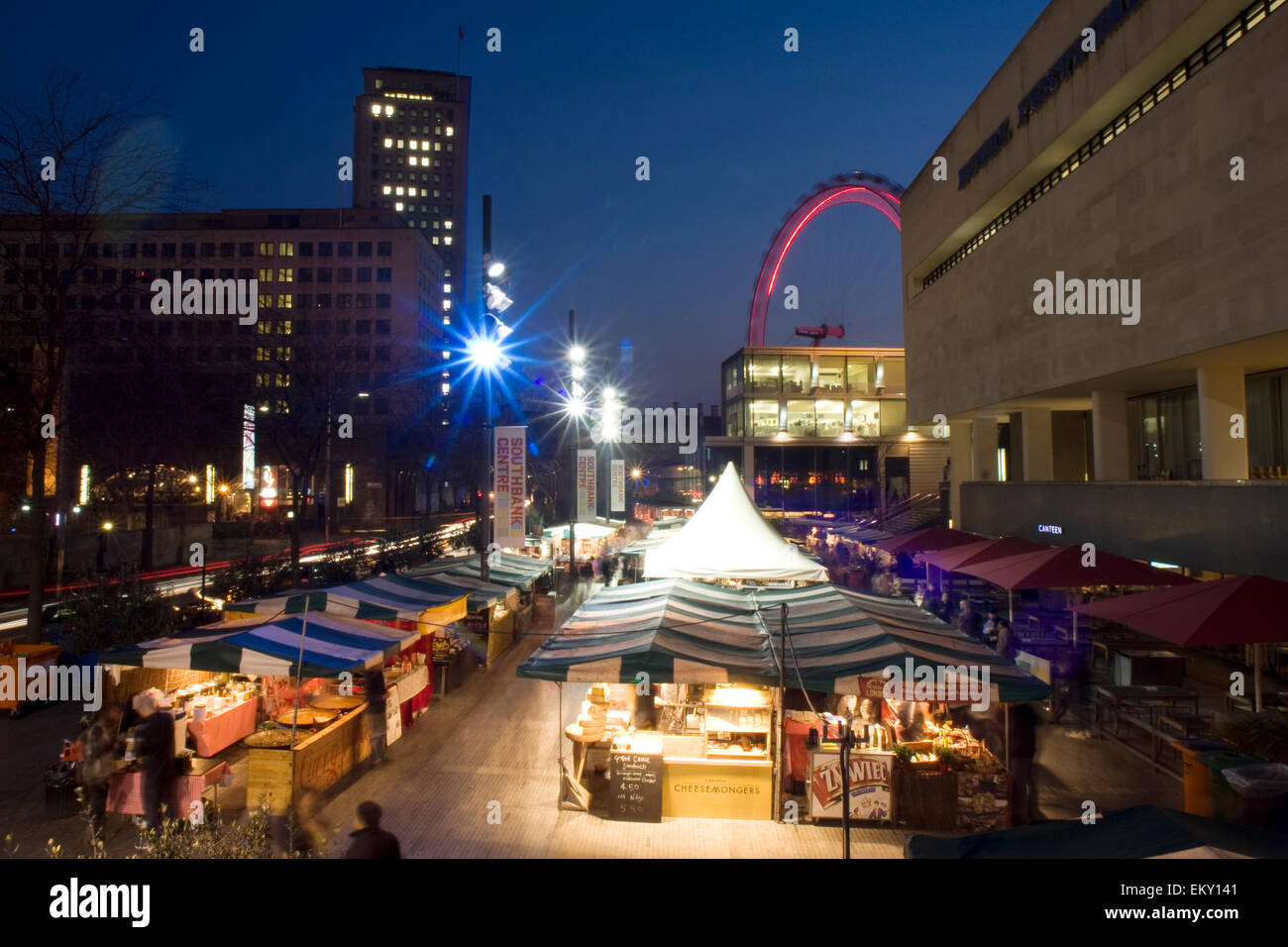 Royal Festival Hall food market, South Bank, London, UK - Stock Image