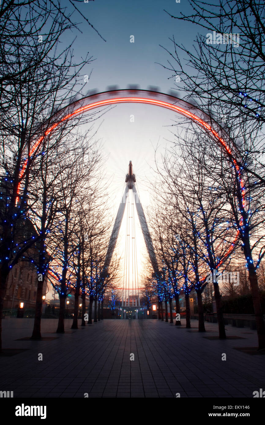 London Eye, London, UK - Stock Image