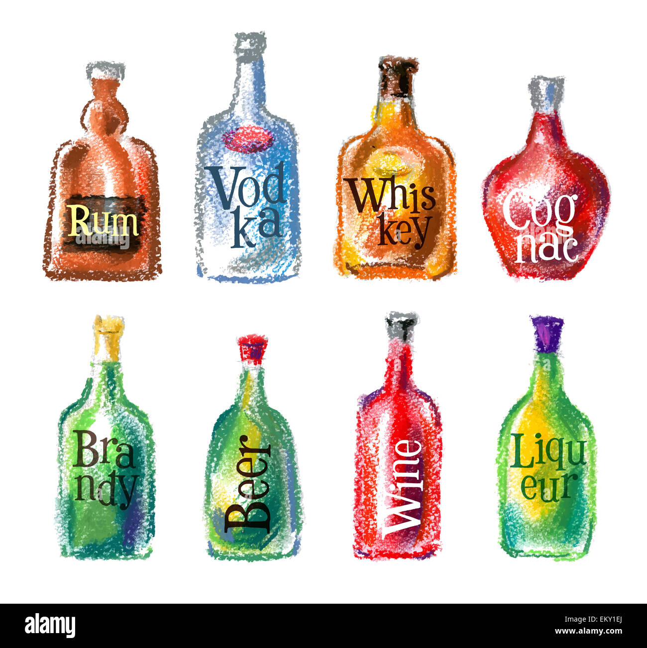 bottle vector logo design template alcohol drink or cocktail icon