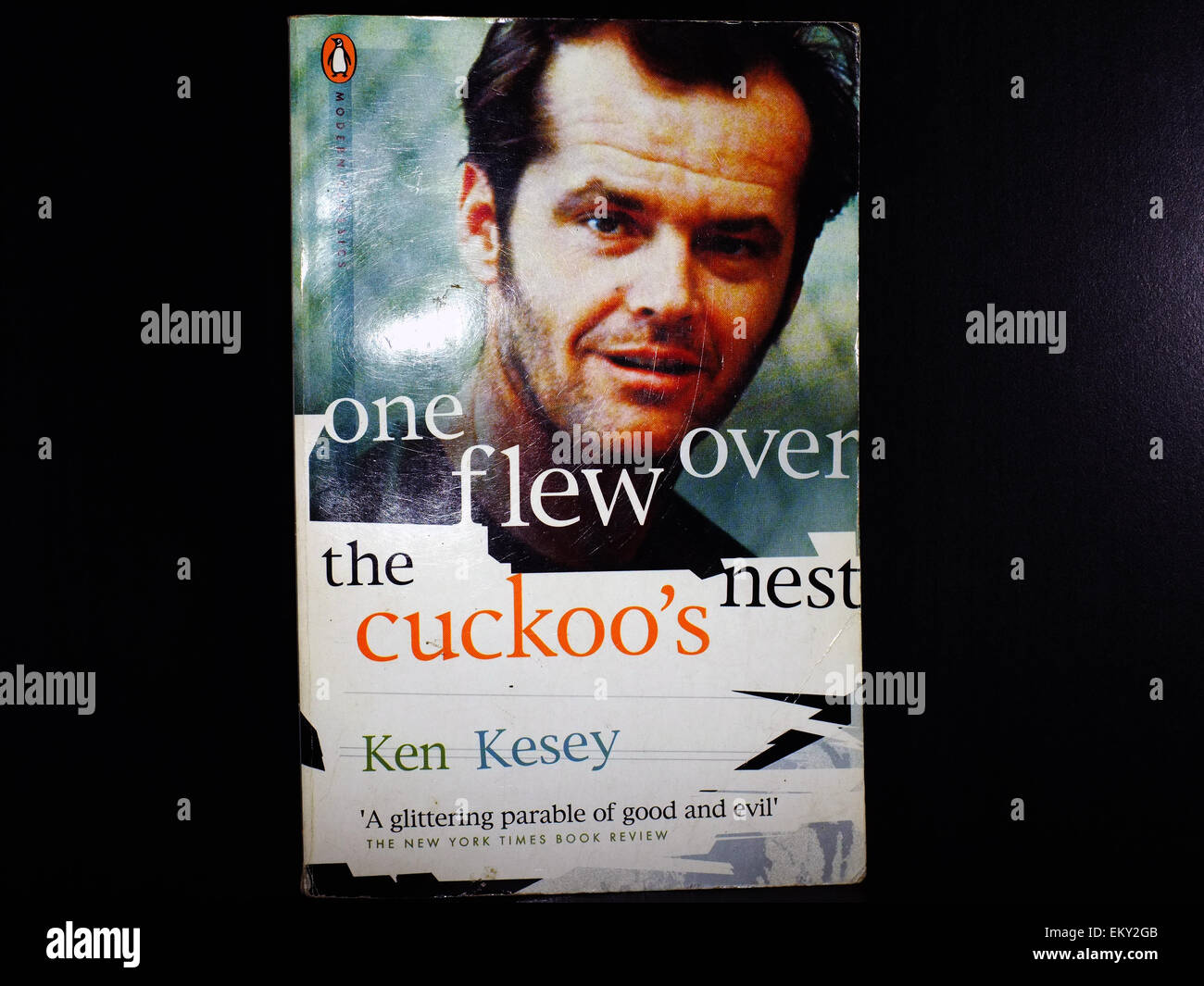 The front cover of the book One Flew Over the Cuckoo's Nest. Stock Photo