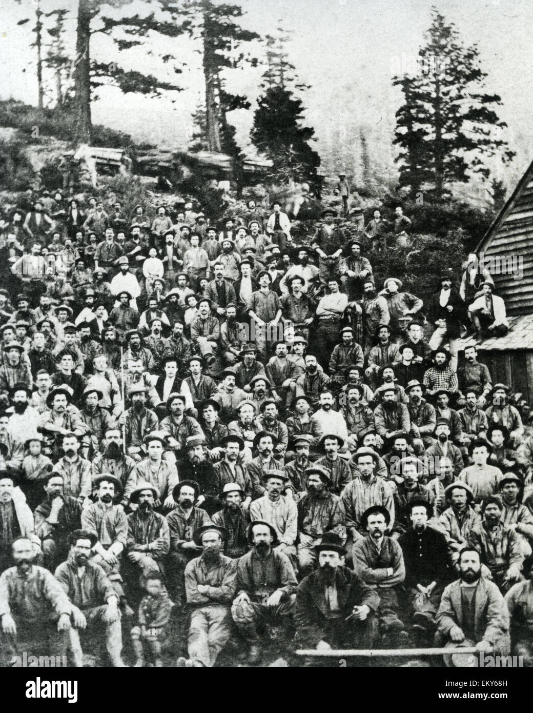 CALIFORNIA GOLD RUSH  Group of miners about 1852 - Stock Image