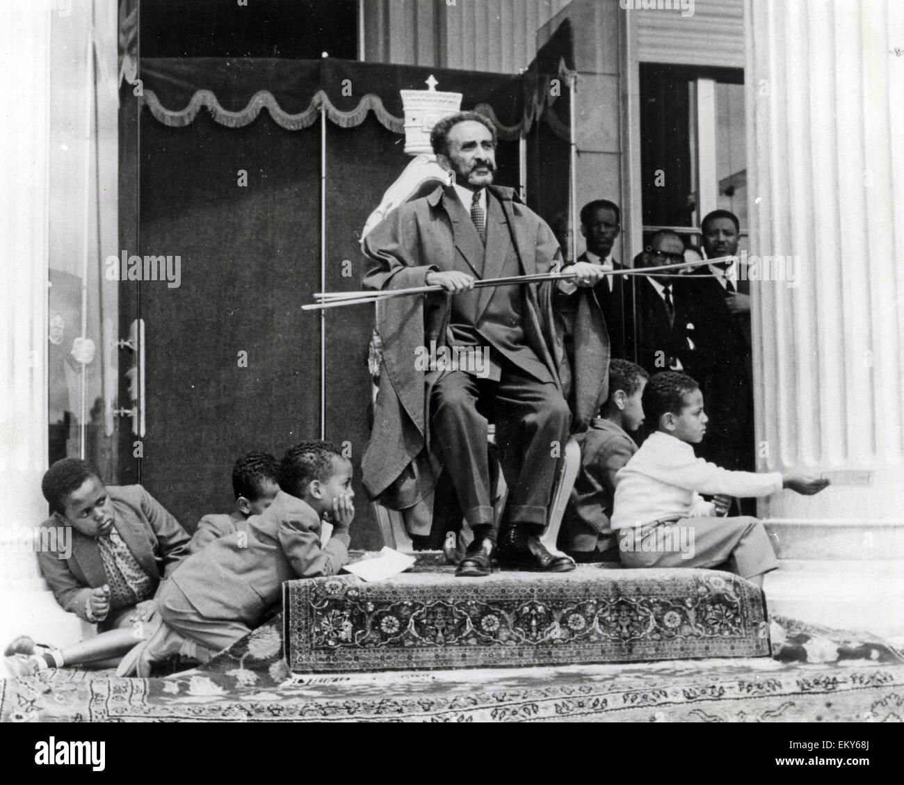 HAILE SELASSIE (1892-1975) Etheopian Regent about 1957 - Stock Image