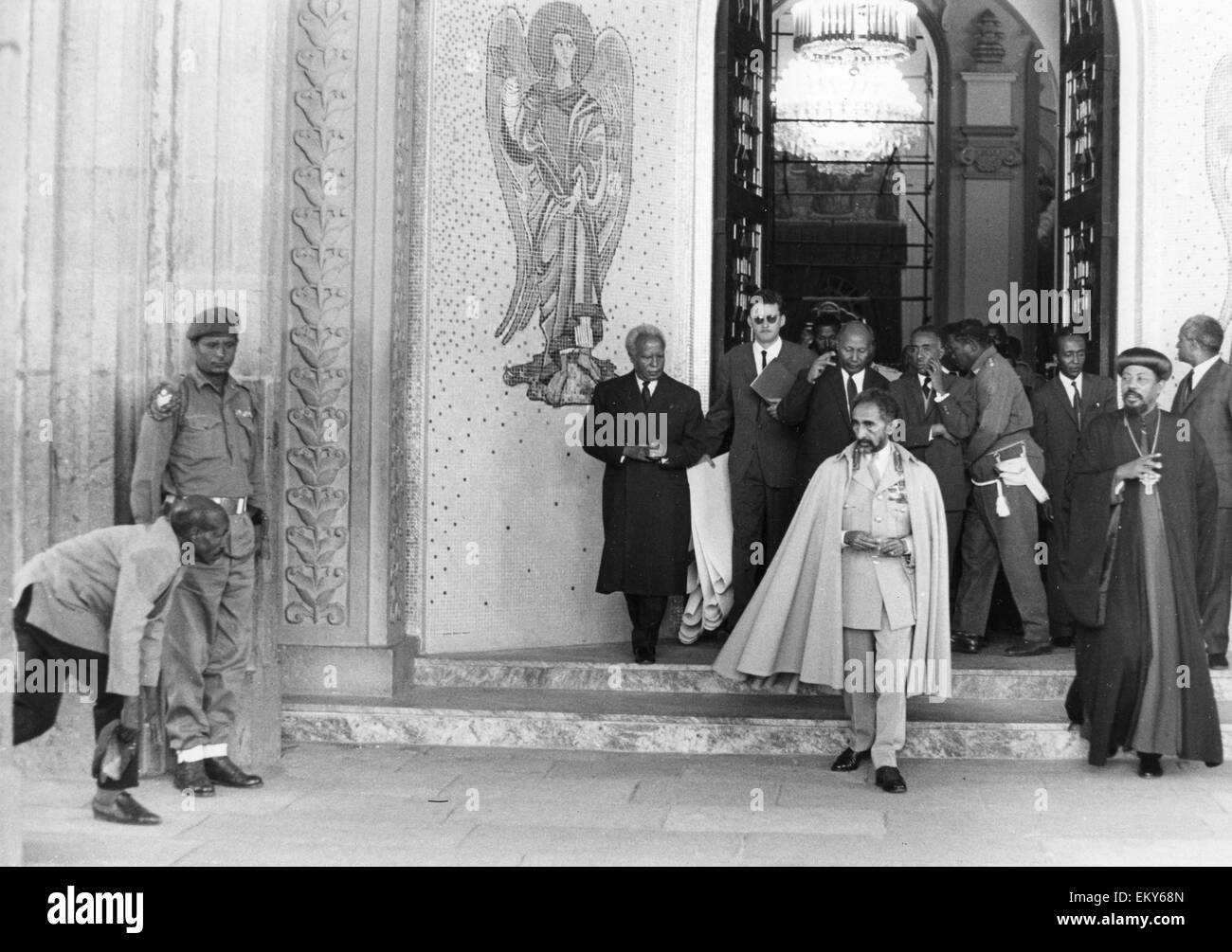 HAILE SELASSIE (1892-1975) Etheopian Regent about 1955 - Stock Image