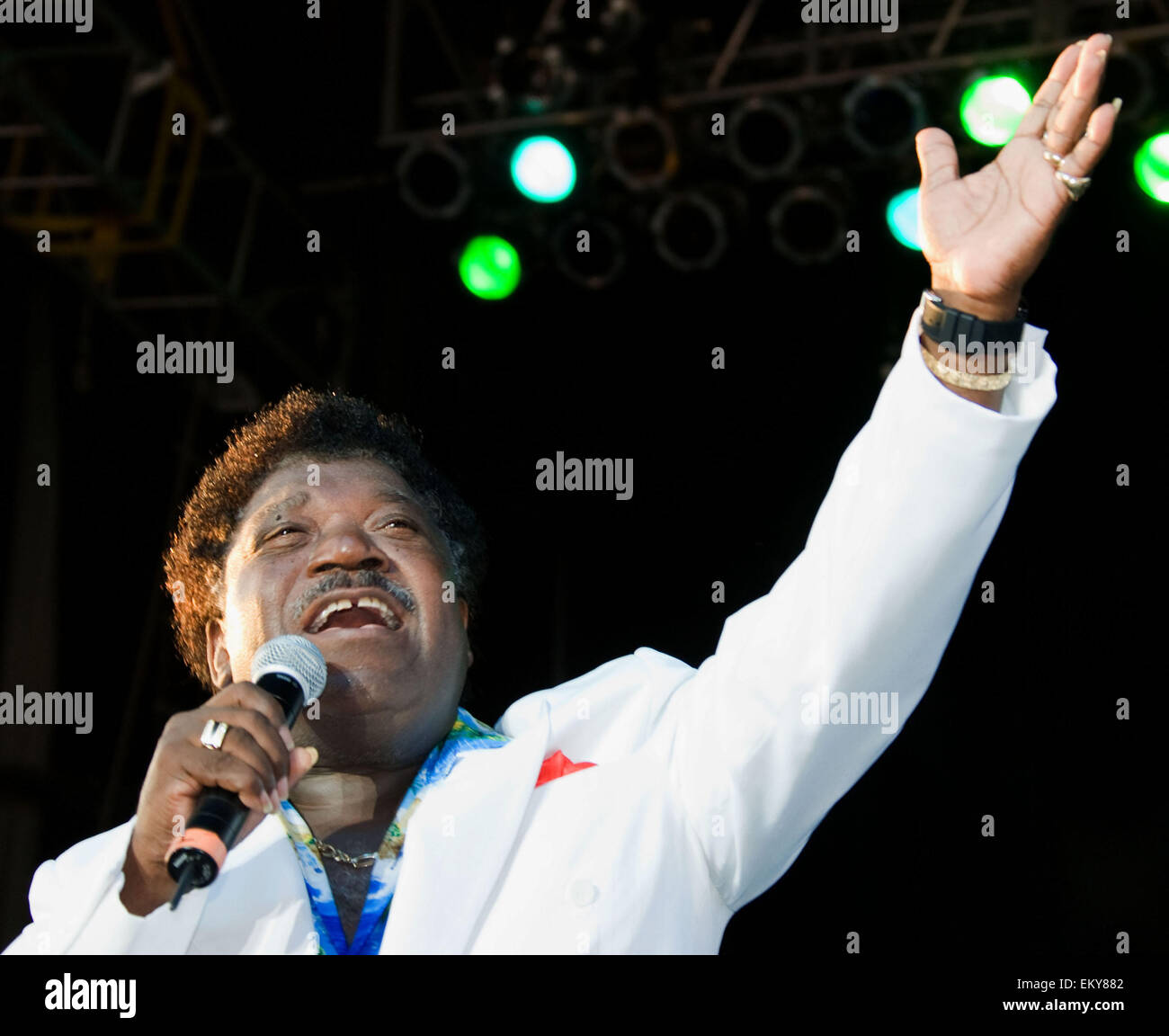 PERCY SLEDGE (November 25, 1940 - April 14, 2015) was an American R&B and soul singer best known for his 1966 - Stock Image
