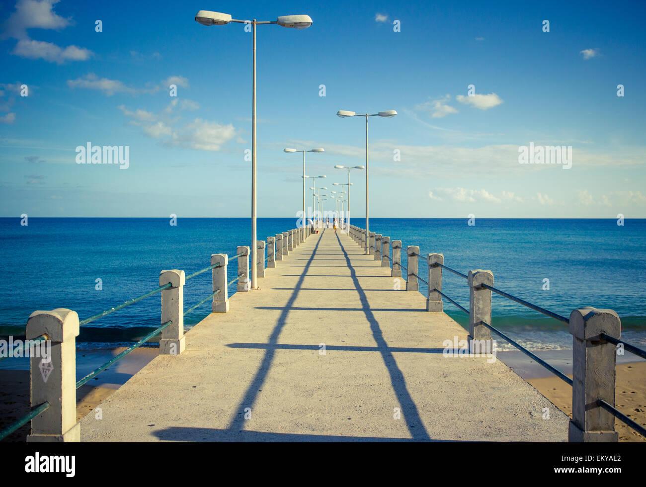 Wharfage to the Infinite - Stock Image
