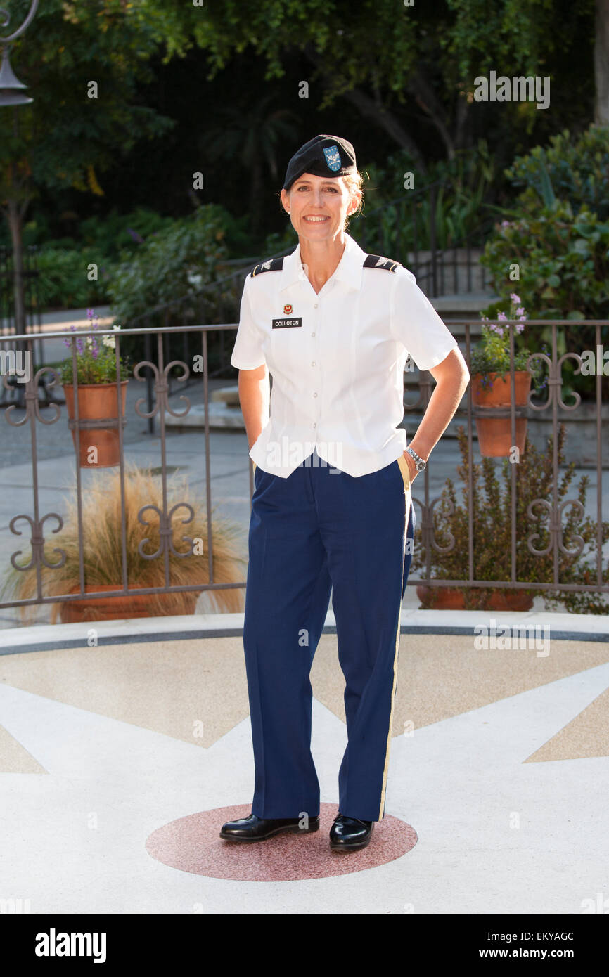 Colonel Kimberly M. Colloton. Raphael Sbarge films FoLAR documentary about the Los Angeles River, Los Angeles, California, Stock Photo