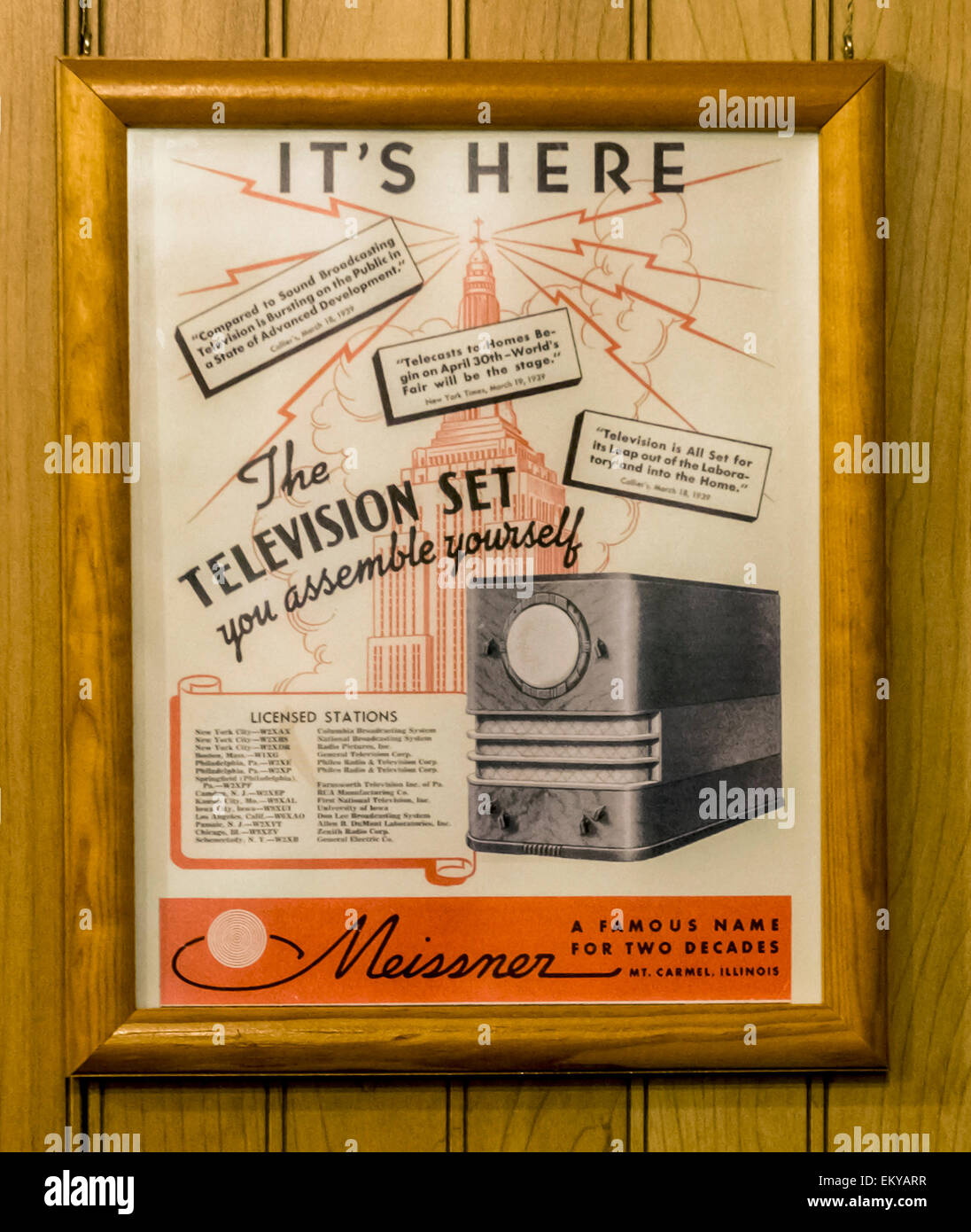 Hilliard, Ohio, USA. 14th Apr, 2015. The Early Television Museum and Foundation are dedicated to the preservation - Stock Image