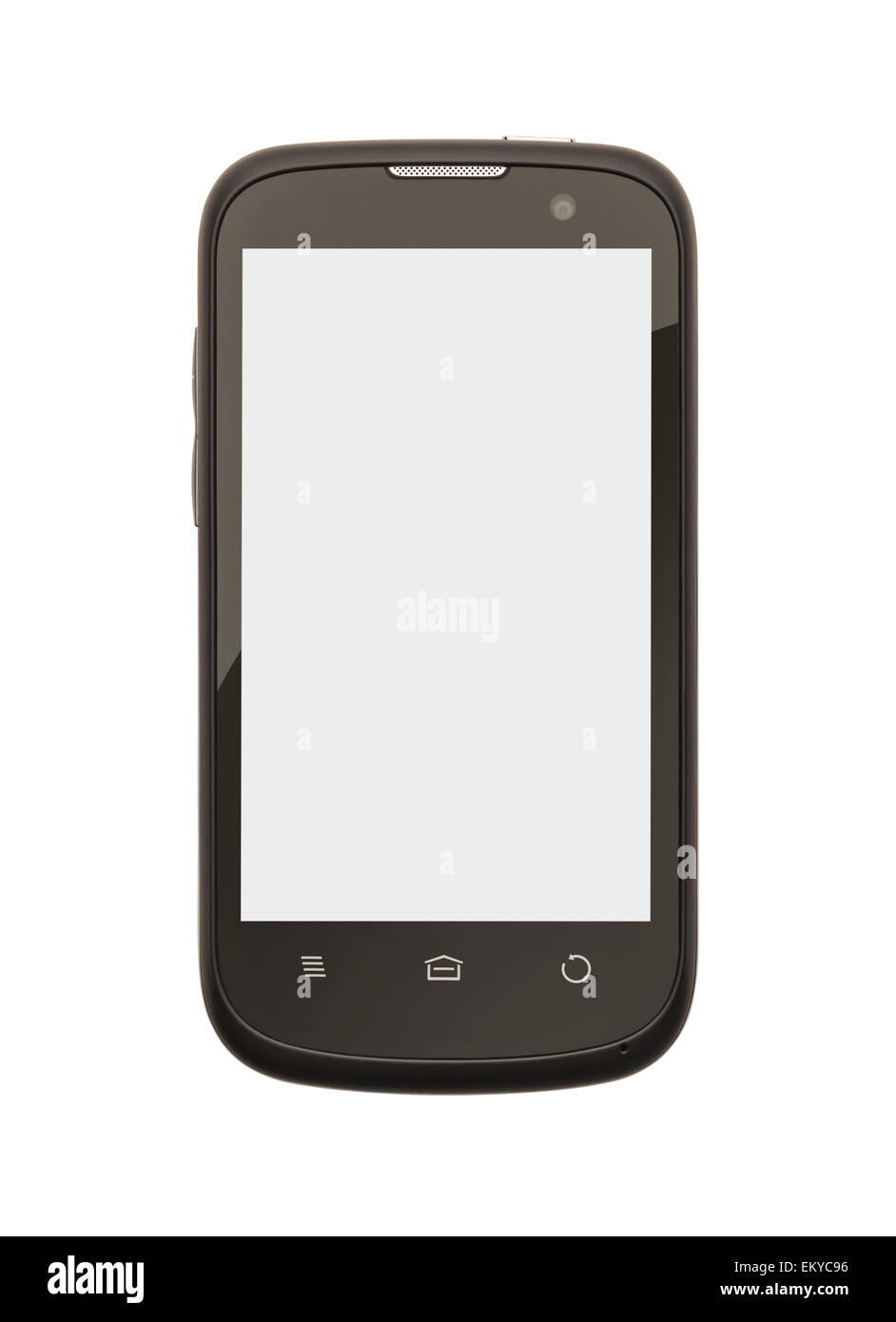Cell Phone with Copy Space Isolate on White Background. - Stock Image