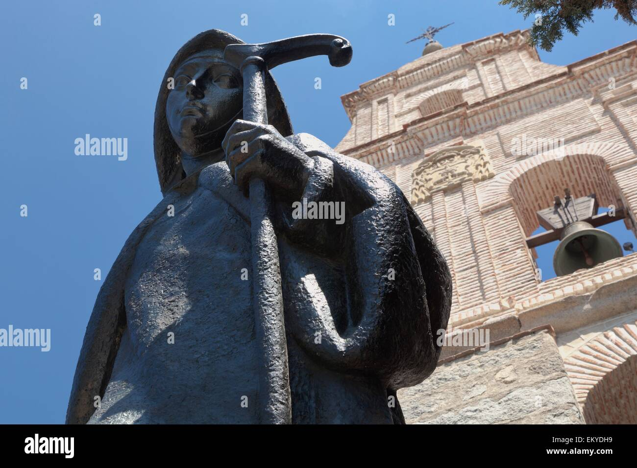 Architecture,Statue,Bell,15th,Century,Convent - Stock Image
