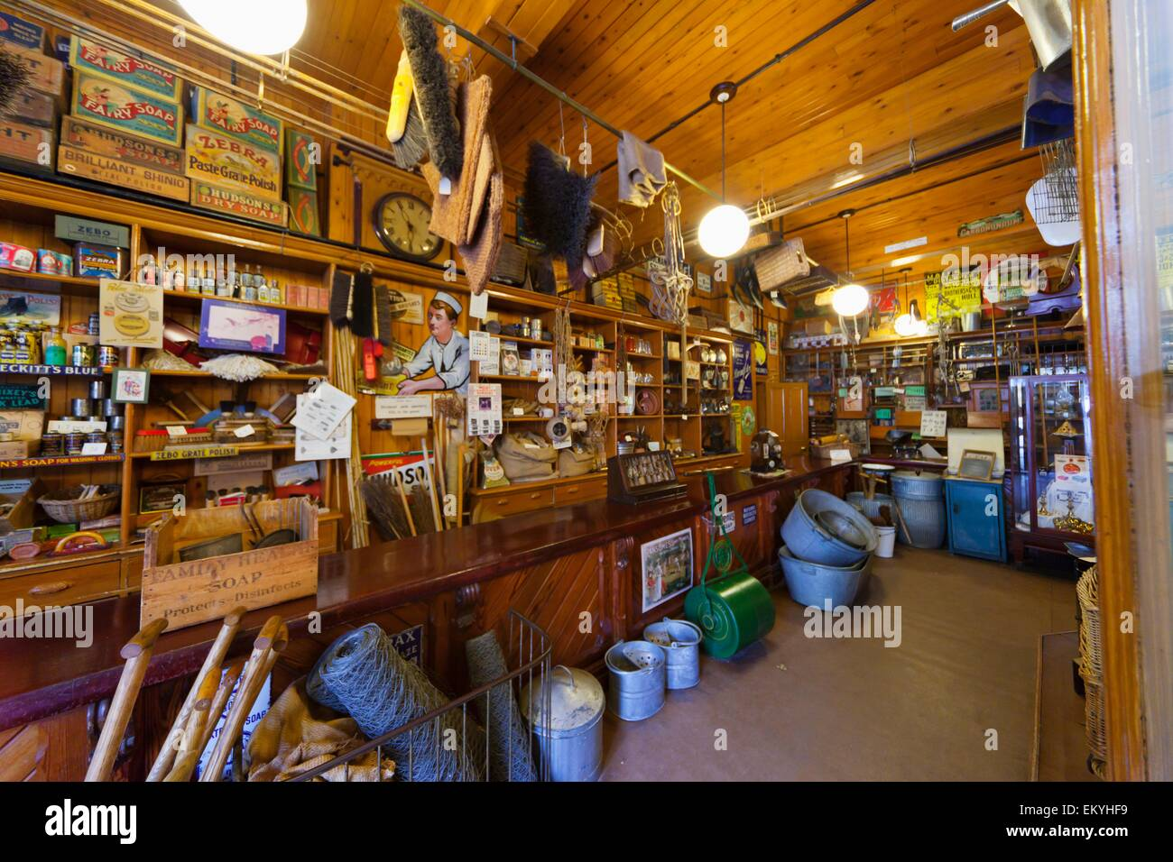 Variety Of Goods For Sale In A Store Beamish Durham England Stock