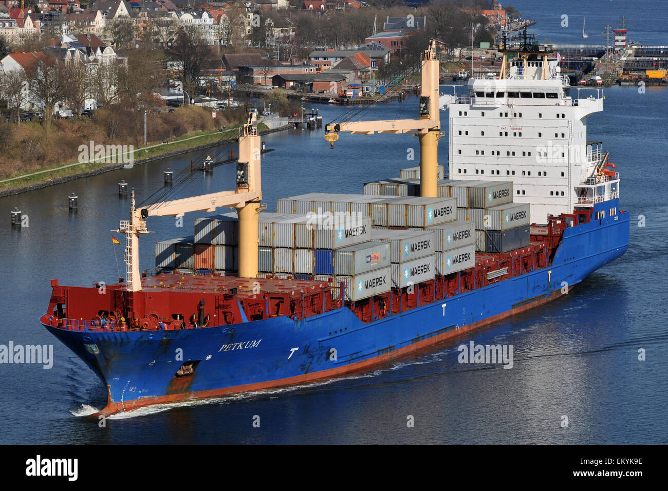 Geared containerfeeder Fetkum - Stock Image
