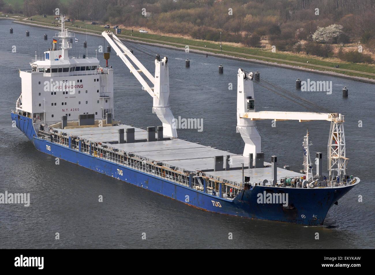 General cargo vessel Amber - Stock Image