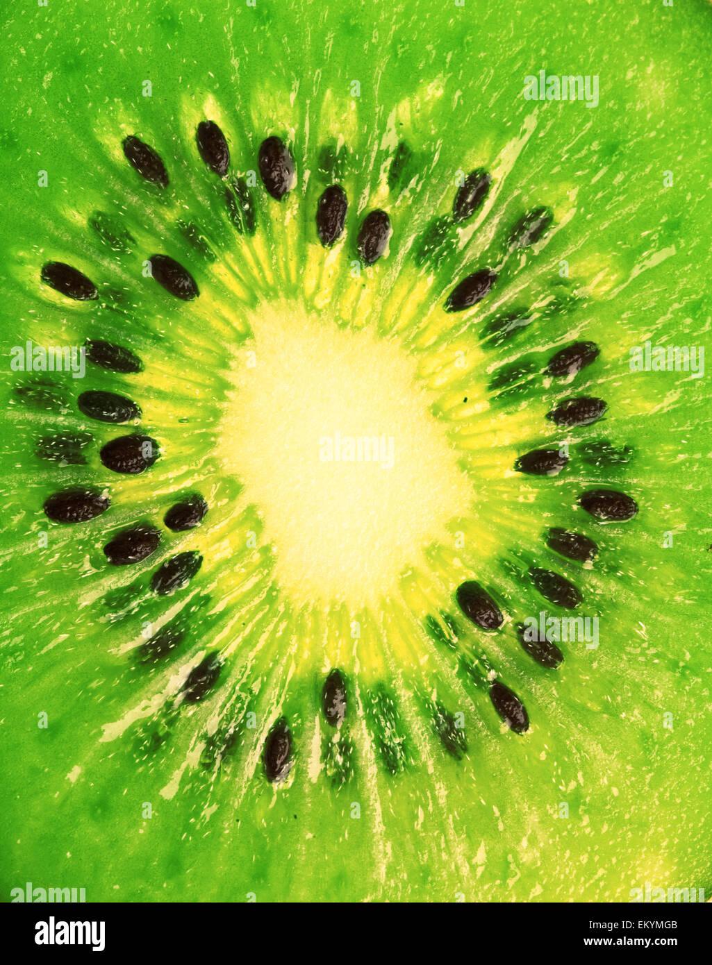 extreme makro shot of kiwi - Stock Image