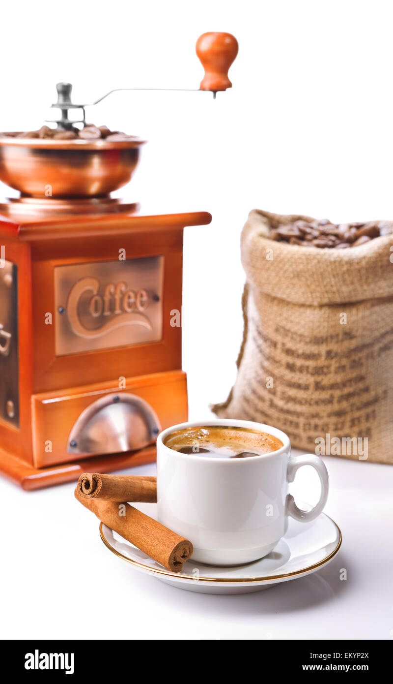 isolated coffee composition - Stock Image