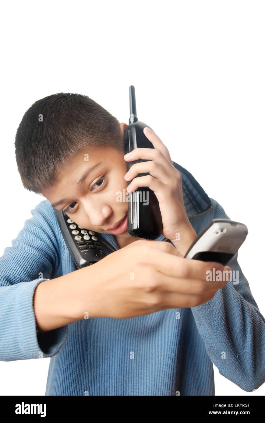 Urgent calling - Stock Image
