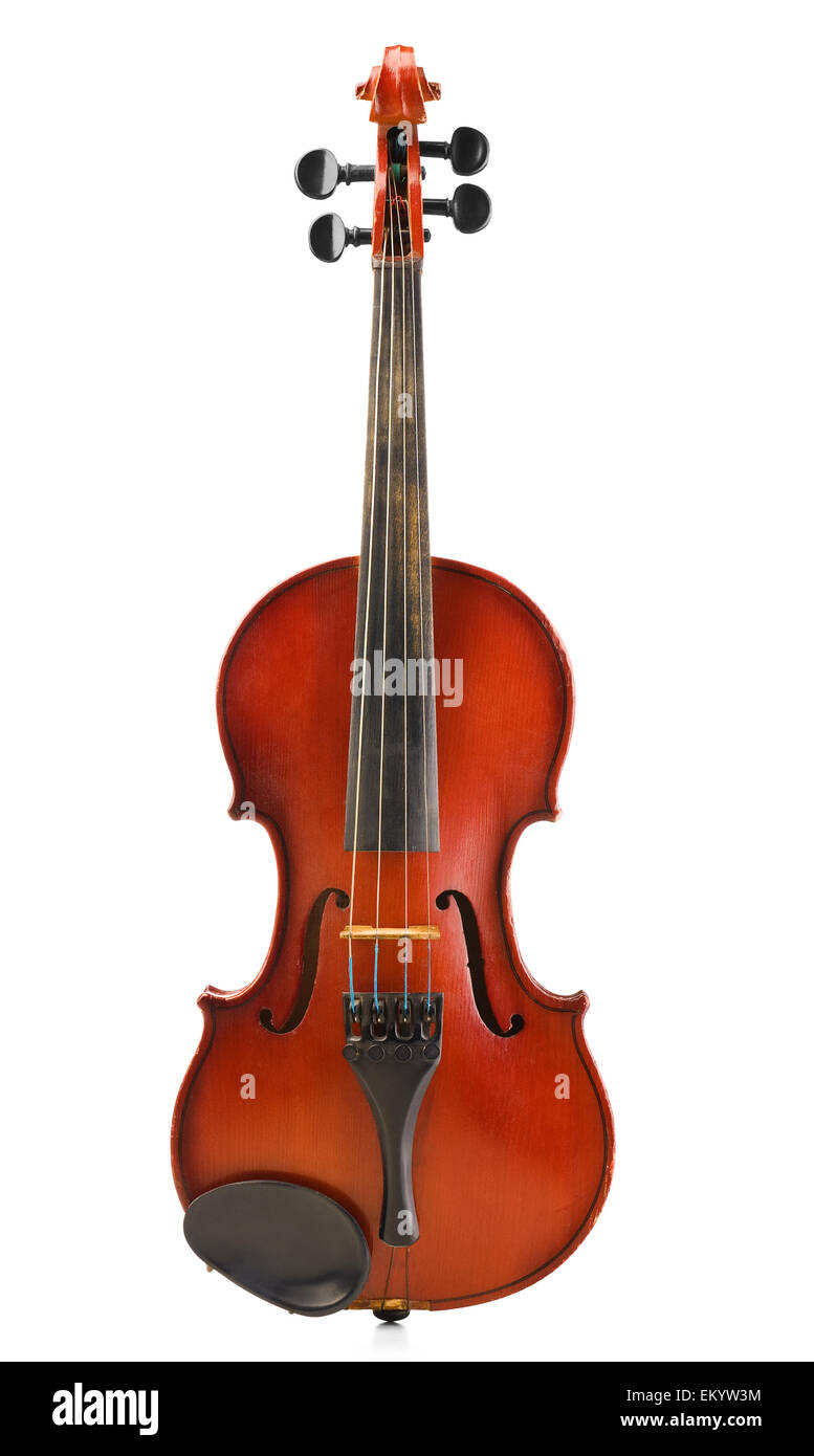 old dusted violin - Stock Image