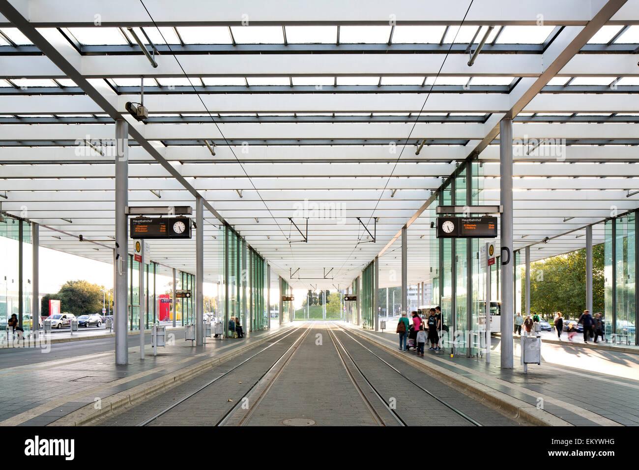 Main station, Braunschweig, Lower Saxony, Germany - Stock Image