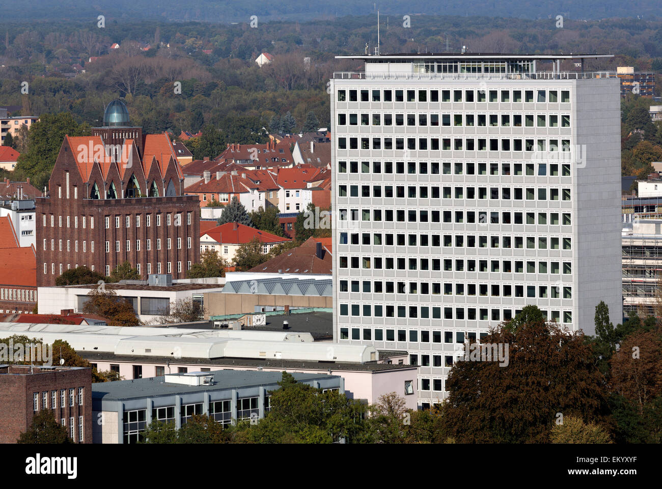 Braunschweig University of Technology, faculty of civil engineering, Oesterlen construction, Braunschweig, Lower - Stock Image