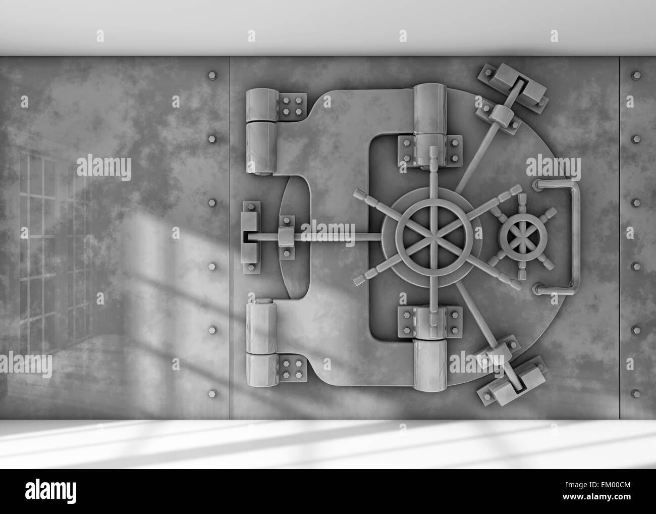 Vault background - Stock Image