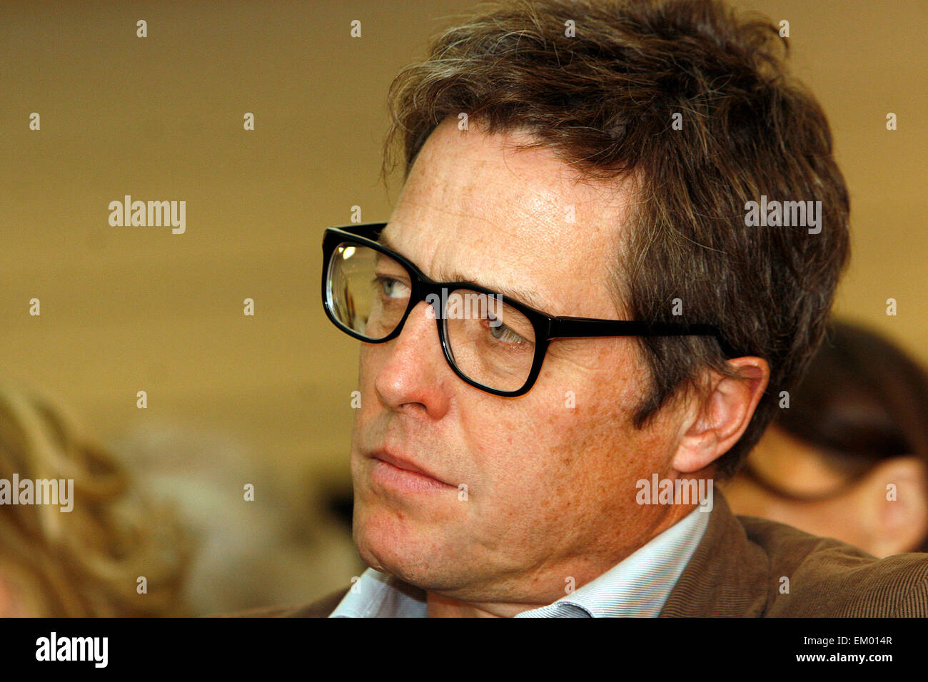 British actor Hugh Grant at a rally for media reform organised by Hacked Off and the Co-ordinating Centre for Media Stock Photo