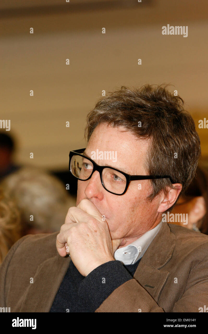 British actor Hugh Grant at a rally for media reform organised by Hacked Off and the Co-ordinating Centre for Media - Stock Image