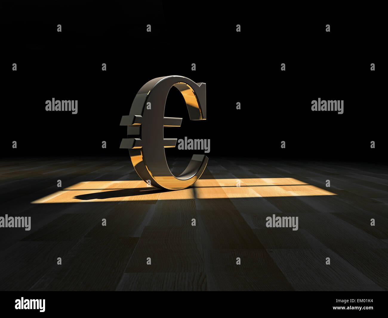 Euro symbol - Stock Image